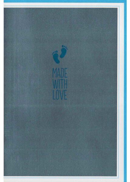 Glückwunschkarte Geburt originell: Made with Love