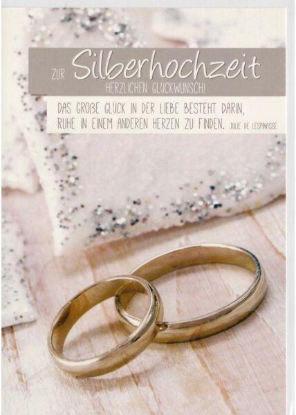 Glückwunsch Karte Silberhochzeit das große Glück der Liebe