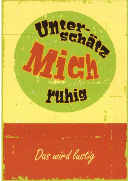 Postkarte Sprüche Das wird lustig