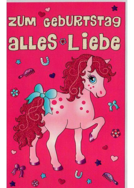 Kindergeburtstagskarte Einhorn Mädchen