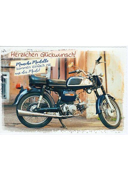 Karte Geburtstag Motorrad Herzlichen Glückwunsch