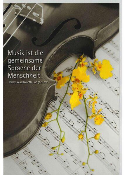 Grußkarte Geige Musik