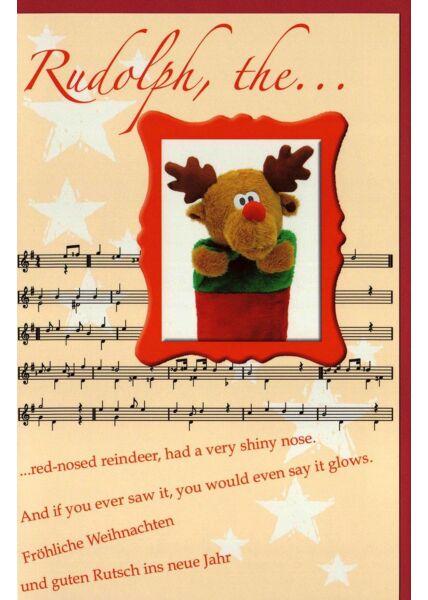 Weihnachtskarte Rudolph, the