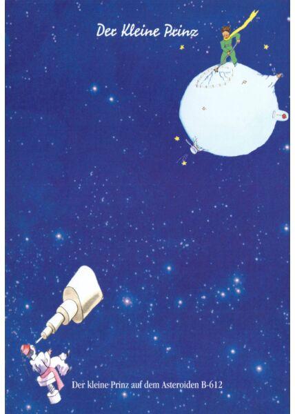 Postkarte Der kleine Prinz Der kleine Prinz auf dem...