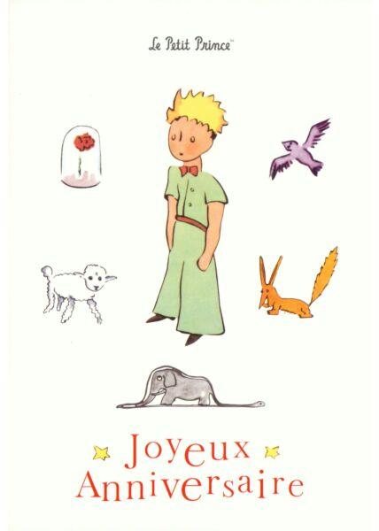 Postkarte Der kleine Prinz Joyeux Anniversaire