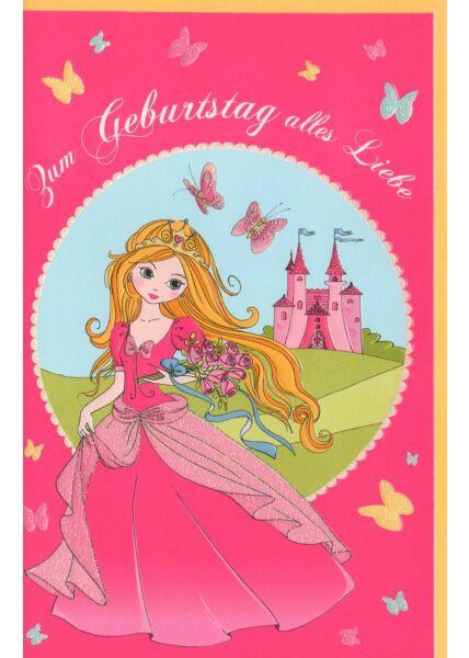 Kinder Geburtstagskarte Prinzessin Zum Geburtstag