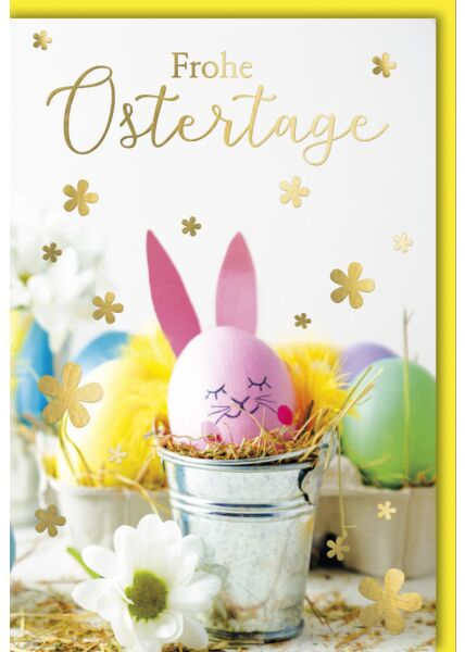 Osterkarte - Osterhase aus Ei