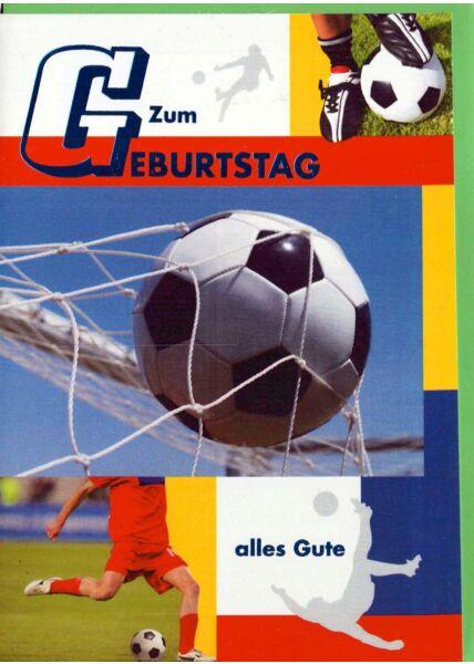 Geburtstagskarte Mann: Fußball bunt
