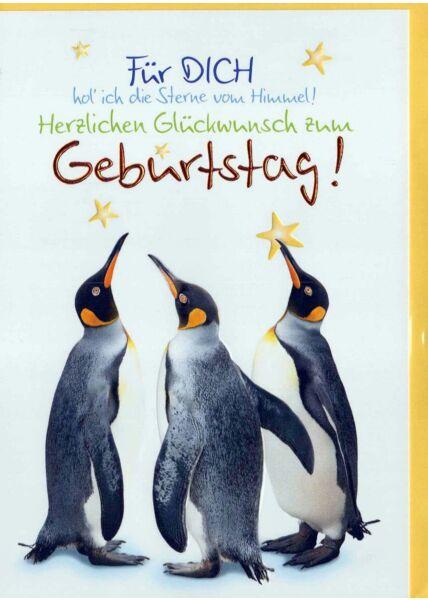 Geburtstagskarte Liebe: Für Dich hol ich die Sterne vom Himmel