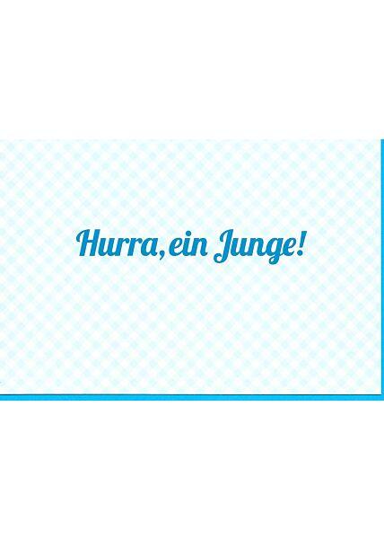 Glückwunschkarte Spruch Geburt: Hurra, ein Junge