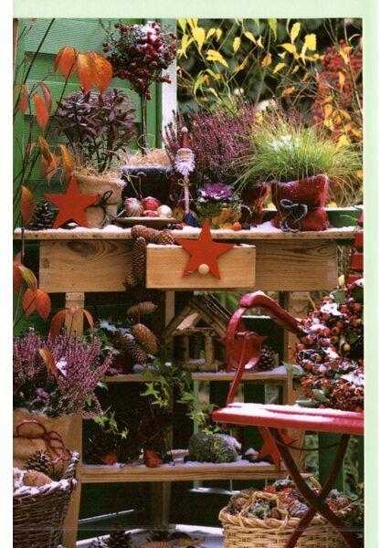 Weihnachtskarte Foto traditionell Terrasse
