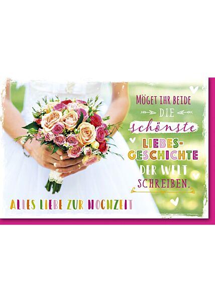Grußkarte Hochzeit Spruch Liebesgeschichte