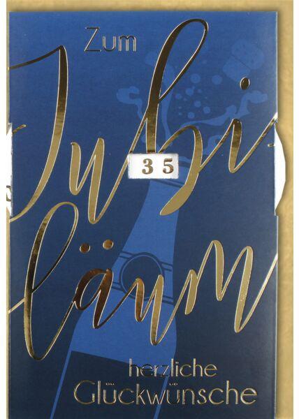 Jubiläumskarteskarte Drehscheibe premium - Flasche mit Korken mit Drehrad