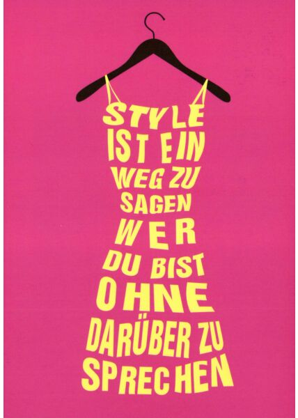 Postkarte Sprüche Style
