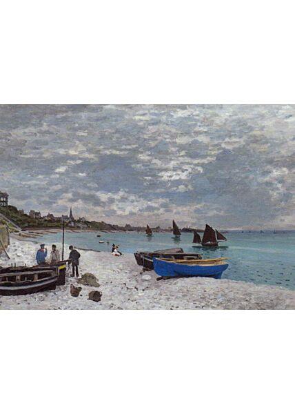 Kunstkarte Claude Monet - The Beach at Sainte-Adresse