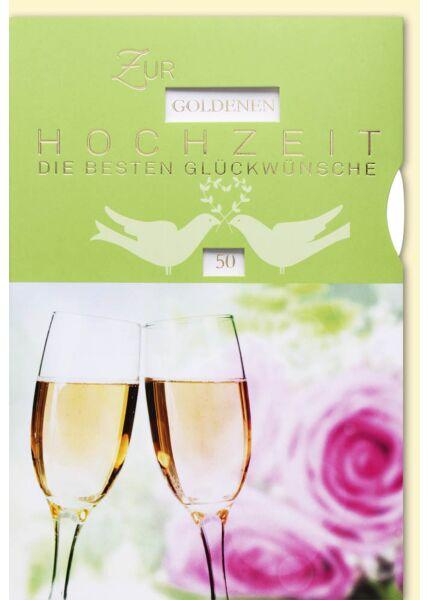 Glückwunschkarte Drehrad Diamanthochzeit und eiserne Hochzeit