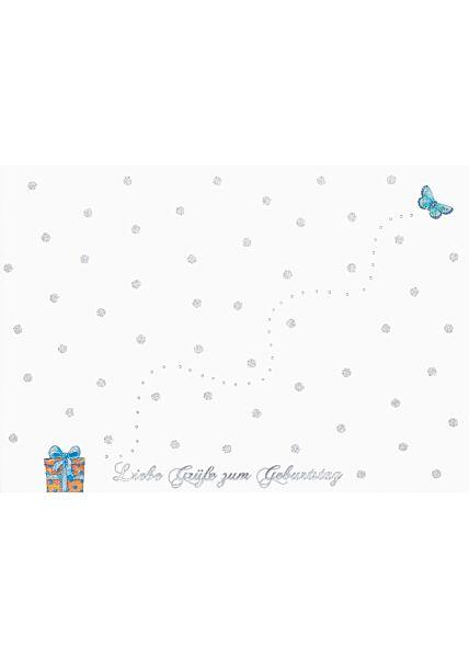 Geburtstagspostkarte SpruchLiebe Grüße zum Geburtstag