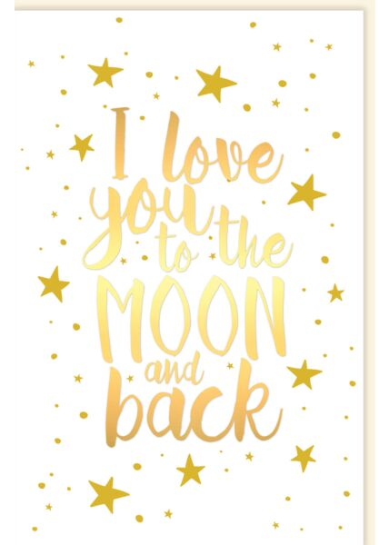 Valentinstag Karte I love you to the moon and back