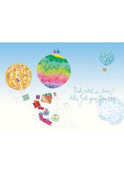 Postkarte Geburtstag Hoch sollst du leben