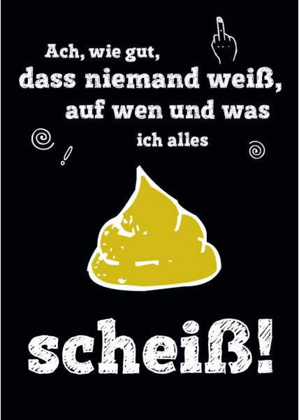 Postkarte lustig Spruch ach wie gut das niemand weiß