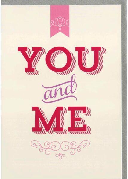 Karte Valentinstag You and Me