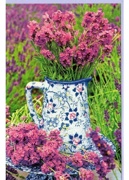 Grußkarte Lavendel ohne Text Sommer