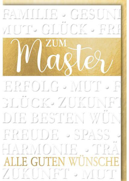 "Glückwunschkarte Master - ""Alle guten Wünsch"""