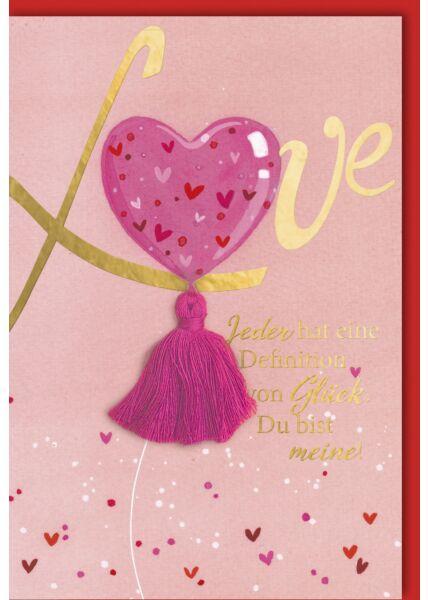 """Valentinstagskarte """"Definition von Glück"""""""