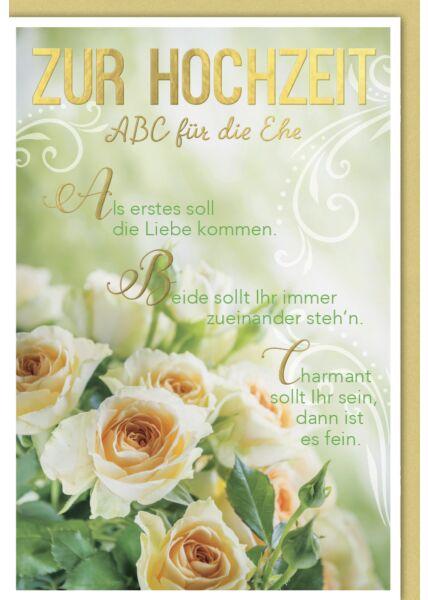 Hochzeitskarte mit Spruch ABC für die Ehe