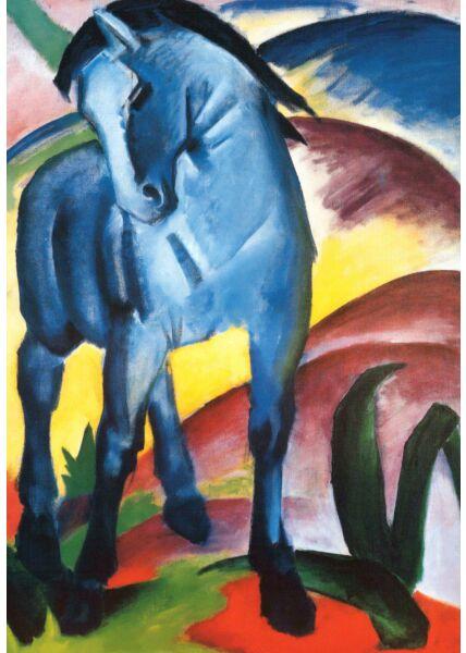 Kunstkarte Franz Marc - Blaues Pferd