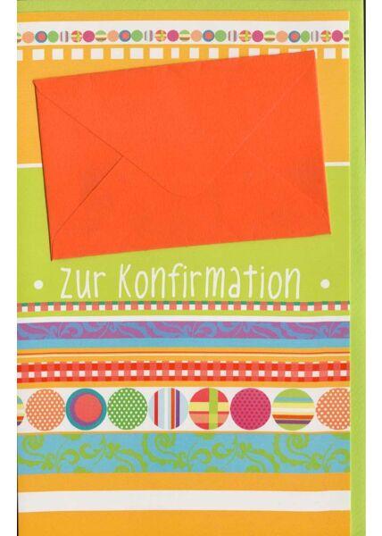 Glückwunschkarte Konformation mit Geldfach in rot