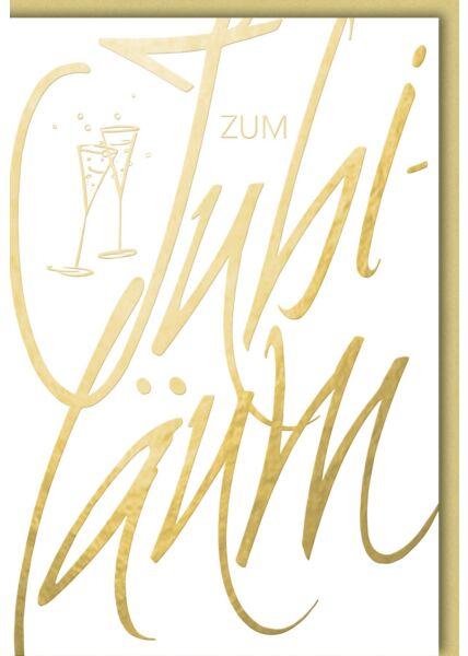 Jubiläumskarte - Goldene Schrift