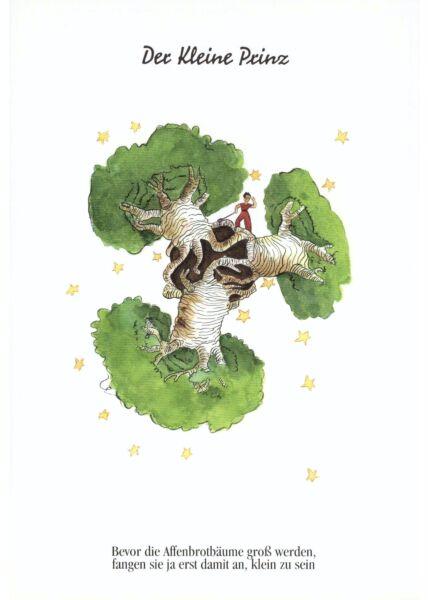 Postkarte Der kleine Prinz Bevor die Affenbrotbäume...