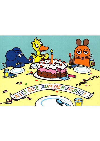 Maus-Postkarte Alles Gute zum Geburtstag