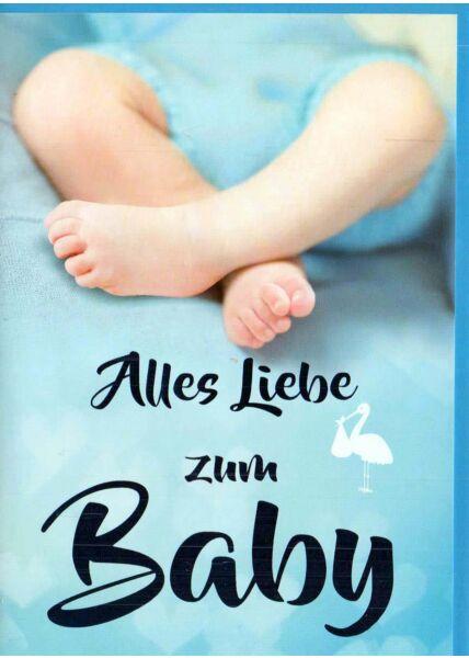 Glückwunschkarte Geburt Junge: Beine