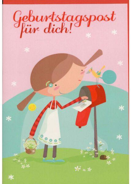 Kindergeburtstagskarte Geburtstagspost für Dich
