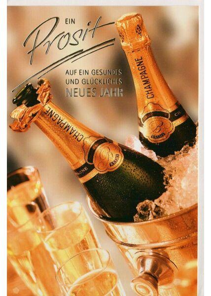 Neujahrskarte premium Ein Prosit