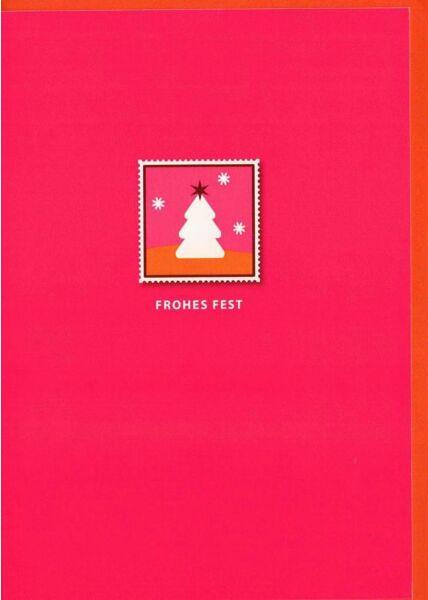 Weihnachtsgrußkarten Weihnachtskarte minimalistisch Design pink Frohes Fest