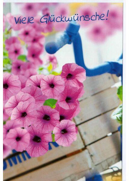 Viele Glückwünsche Grußkarte Blumen