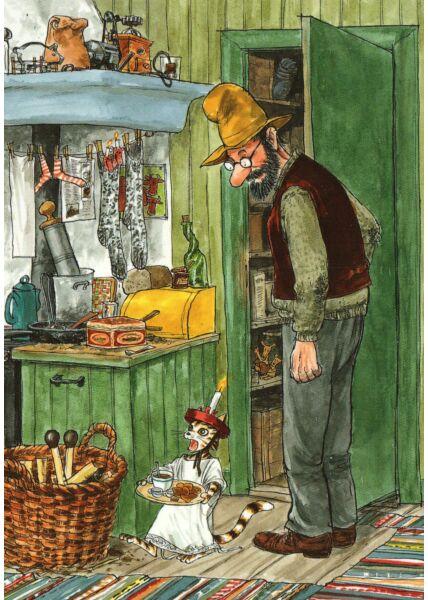 Postkarte Pettersson und Findus
