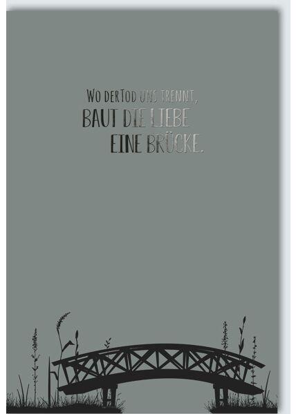 Trauerkarte Wo der Tod uns trennt...