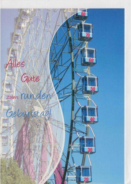 Geburtstagskarte mit Riesenrad