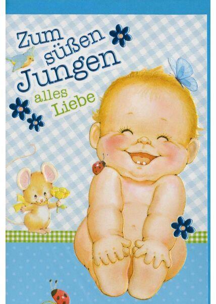 Glückwunschkarte Geburt Baby: zum süßen Jungen