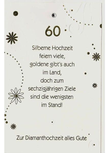 Karte Diamanthochzeit 60 premium