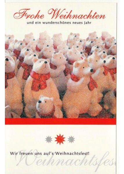 Weihnachtskarte Wir freuen uns aufs Weihnachtsfest