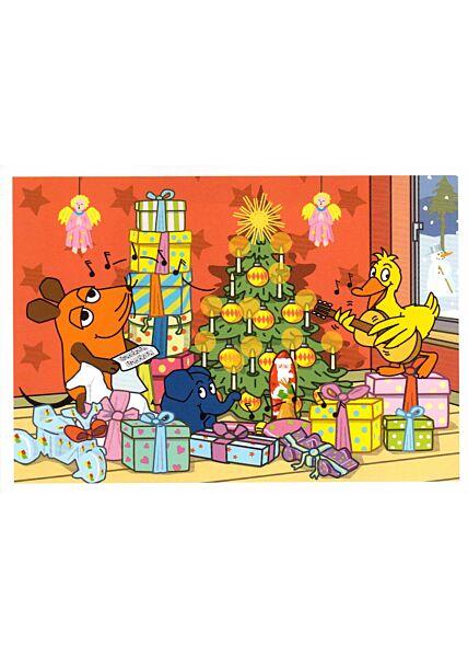 Maus-Postkarte Weihnachten