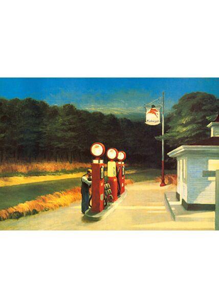 Kunstkarte Edward Hopper - Gas Station