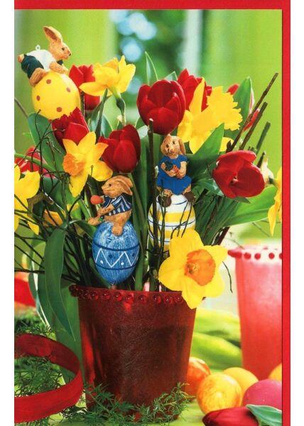 Ostergrußkarte Blume Osterdeko