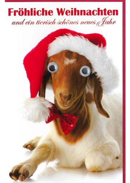 Weihnachtskarte tierisch schönes neues Jahr