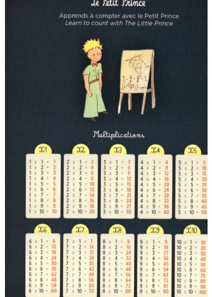Postkarte der kleine Prinz Multiplications